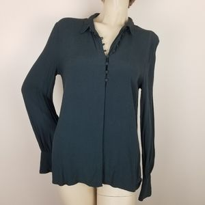 Urban outfitters kimchi blue navy button up blouse